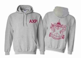 Alpha Chi Rho World Famous Crest - Shield Hooded Sweatshirt- $35!