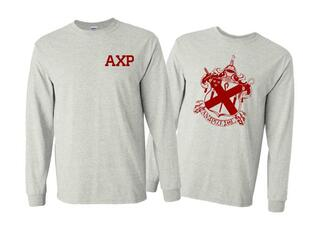 Alpha Chi Rho World Famous Crest - Shield Long Sleeve T-Shirt- $19.95!