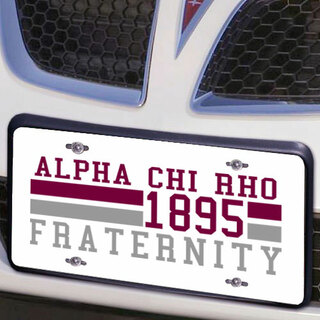 Alpha Chi Rho Year License Plate Cover