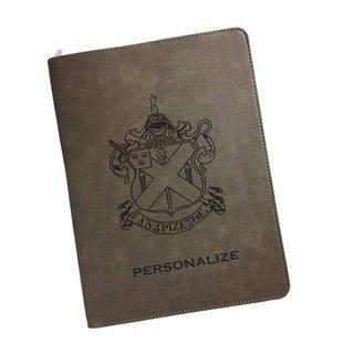 Alpha Chi Rho Zipper Leatherette Portfolio with Notepad