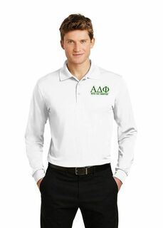 Alpha Delta Phi- $35 World Famous Long Sleeve Dry Fit Polo