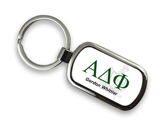 Alpha Delta Phi Chrome Crest - Shield Key Chain