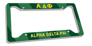 Alpha Delta Phi Custom License Plate Frame