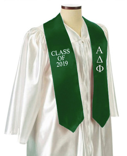 Alpha Delta Phi Embroidered Graduation Sash Stole