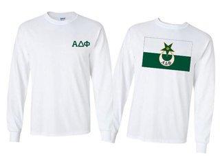 Alpha Delta Phi Flag Long Sleeve T-shirt - Comfort Colors