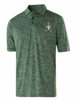 Alpha Delta Phi Greek Crest Emblem Electrify Polo