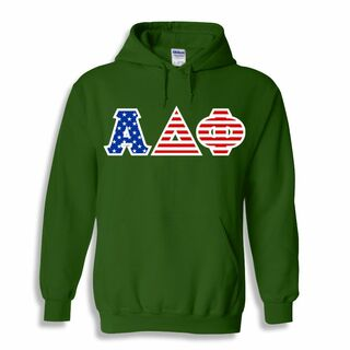 Alpha Delta Phi Greek Letter American Flag Hoodie