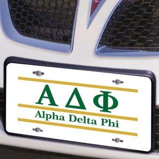 Alpha Delta Phi Lettered Lines License Cover