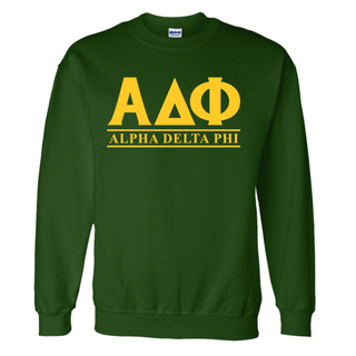 Alpha Delta Phi Lettered World Famous Greek Crewneck