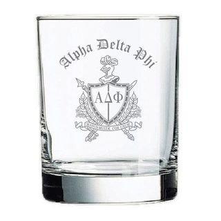 Alpha Delta Phi Rocks Glass
