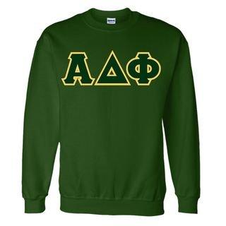 Alpha Delta Phi Sewn Lettered Crewneck Sweatshirt