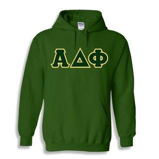 Alpha Delta Phi Sewn Lettered Hooded Sweatshirts