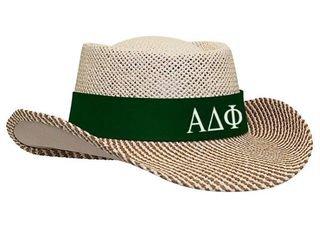 Alpha Delta Phi Straw Hat