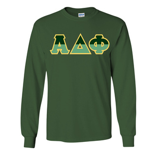 Alpha Delta Phi Two Tone Greek Lettered Longsleeve Tee