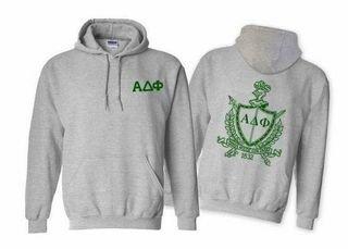 Alpha Delta Phi World Famous Crest - Shield Hooded Sweatshirt- $35!