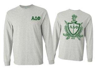 Alpha Delta Phi World Famous Crest - Shield Long Sleeve T-Shirt- $19.95!