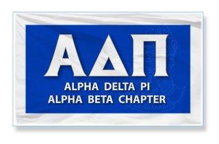 Alpha Delta Pi 3 X 5 Flag