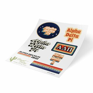 Alpha Delta Pi 70's Sticker Sheet