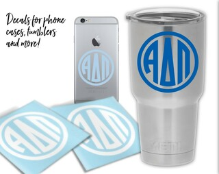 Alpha Delta Pi Circle Decal