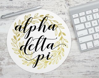 Alpha Delta Pi Gold Wreath Mousepad