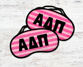 Alpha Delta Pi Pink Stripes Eye MaSigma Kappa
