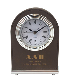Alpha Delta Pi Arch Desk Clock