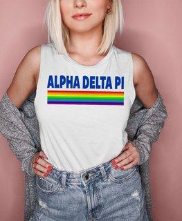 Alpha Delta Pi BELLA + CANVAS - Prism Muscle Tank