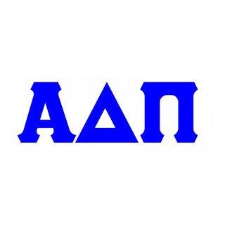 Alpha Delta Pi Big Greek Letter Window Sticker Decal