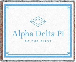 Alpha Delta Pi Blanket Throw