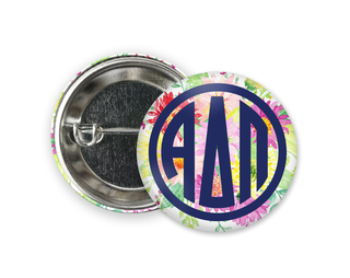 Alpha Delta Pi Bouquet Button