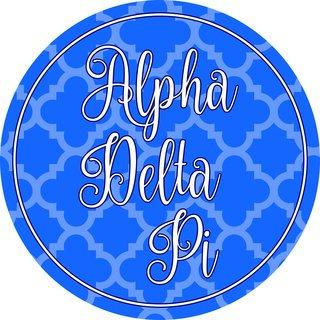 """Alpha Delta Pi Bumper Stickers 4"""" Round"""