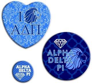 Alpha Delta Pi Button Set