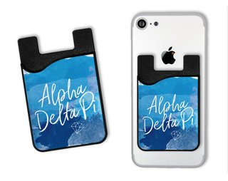 Alpha Delta Pi Watercolor Caddy Phone Wallet