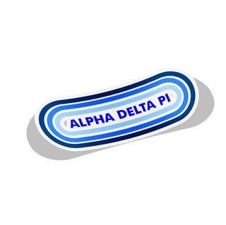 Alpha Delta Pi Capsule Decal Sticker