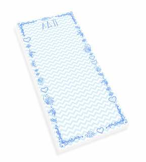Alpha Delta Pi Chevron Long Notepad