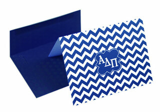 Alpha Delta Pi Chevron Note Cards w/ Envelopes (10)