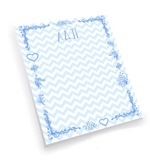 Alpha Delta Pi Chevron Notepad