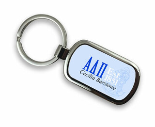 Alpha Delta Pi Chrome Crest - Shield Key Chain