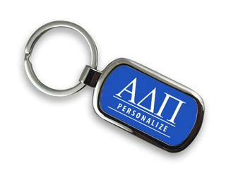 Alpha Delta Pi Chrome Custom Keychain