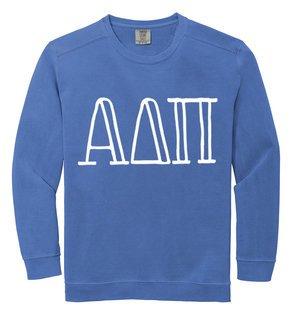 Alpha Delta Pi Comfort Colors Greek Crewneck Sweatshirt