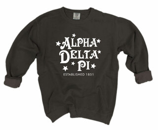 Alpha Delta Pi Comfort Colors Old School Custom Crew