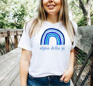 Alpha Delta Pi Comfort Colors Rainbow Tee