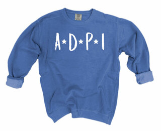 Alpha Delta Pi Comfort Colors Starry Night Crew