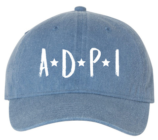 Alpha Delta Pi Comfort Colors Starry Night Pigment Dyed Baseball Cap