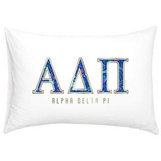 Alpha Delta Pi Cotton Knit Pillowcase