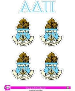 Alpha Delta Pi Crest Sticker Sheet
