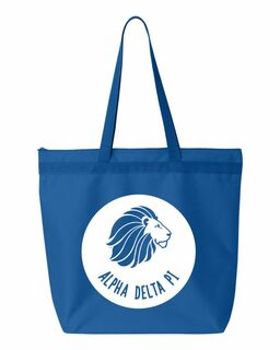 Alpha Delta Pi Circle Mascot Tote bag
