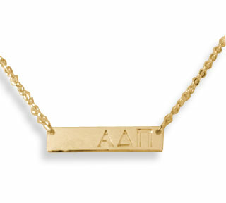 Alpha Delta Pi Cross Bar Necklace