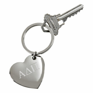 Alpha Delta Pi Cupid Heart Shaped Key Ring