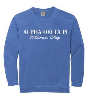 Alpha Delta Pi Script Comfort Colors Greek Crewneck Sweatshirt
